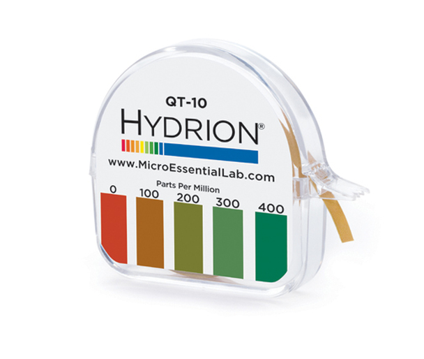 Hydrion (QT-10) Quat Test Paper 0-400 PPM - 15 ft/roll