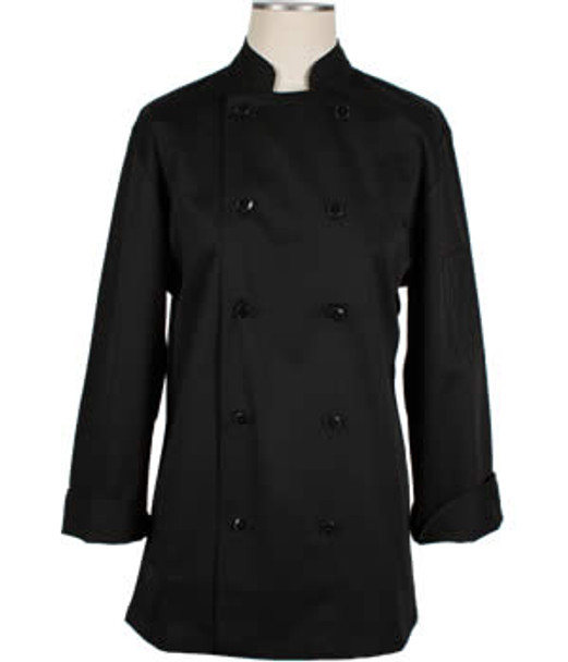 CI22139 Large - Bodyguard Black Chef Coat Large - Each