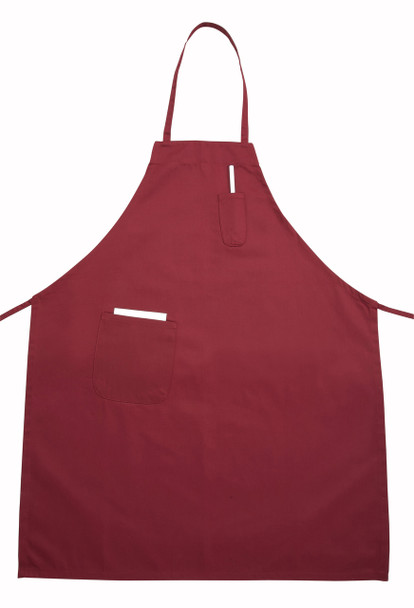 Winco - BA-PBG - Burgundy / Red Full Size Aprons (Cotton/Poly Blend)