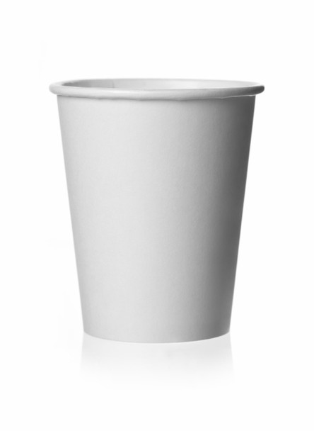 Morning Dew - H8SW - 8 oz Squat White Paper Hot Drink Cups - 1000/Case
