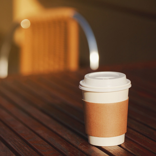 Morning Dew - H8SW - 8 oz Squat White Paper Hot Drink Cups