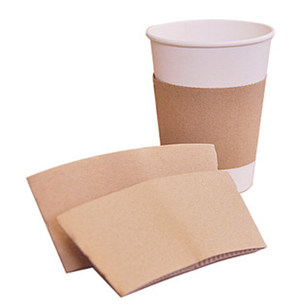 Kraft Paper Sleeve fits 10 - 20 oz Paper cups