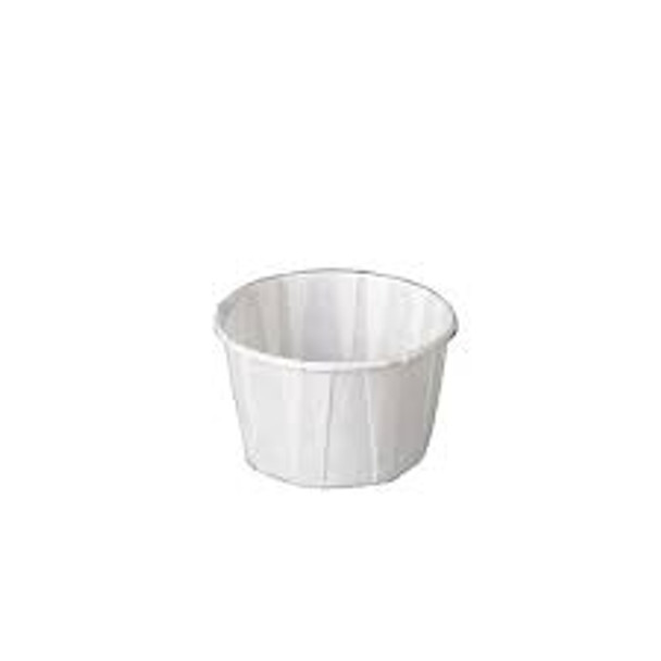 Genpak Paper Portion Cup, White, 2.5 oz