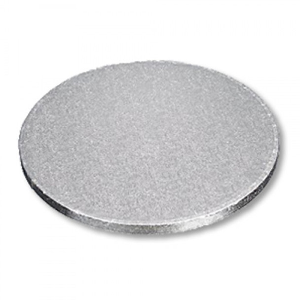 """Enjay - 1/4-8RS24 - 8"""" Round X 1/4"""" High - Silver Cake Board - 24/Pack (2x12)"""