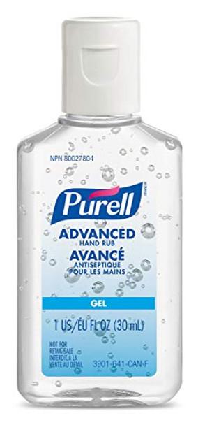 Purell 3901-99-CAN00 Advanced Hand Rub, Portable Flip Cap Travel Bottle, 1 oz