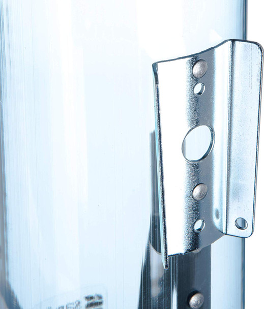 "San Jamar - C4160TBL - Pull-Type 3 - 5 oz. Flat / 3 - 4.5 oz. Cone Cup Dispenser - 16"" Long, Arctic Blue"