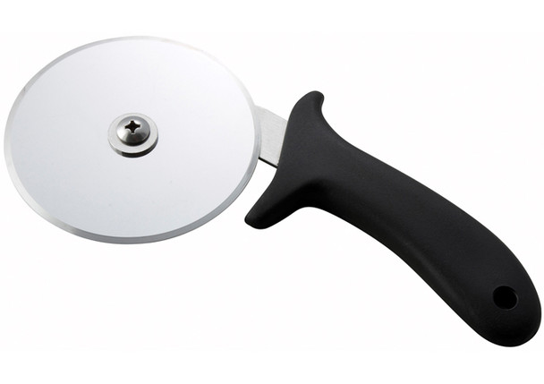 """Winco - PPC-4 - 4"""" Pizza Cutter with Black PP Handle, NSF"""