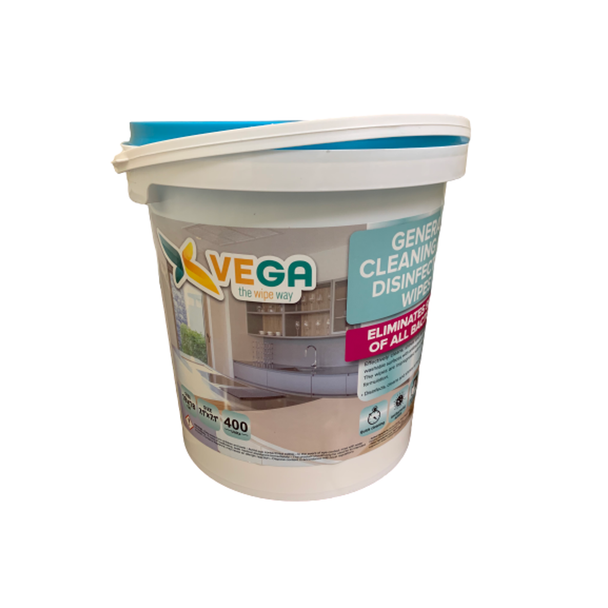 Vega - General Cleaning and Disinfectant Wipes, 400 Wipes