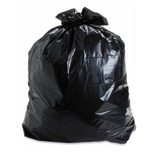 "35"" X 50"" 3 Mil - Black Garbage Bag (Contractor Bag)"