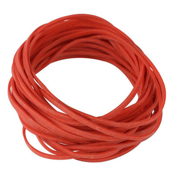 """#32 Red Rubber Bands, 3"""", 25 lbs/case"""