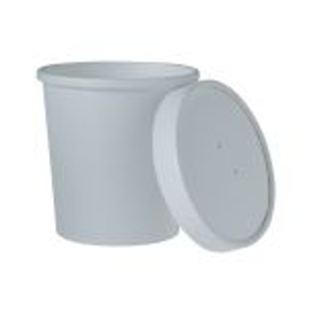 Solo KHB32A-2050 - 32 oz WHITE Soup Container Combo (Lids+Base)