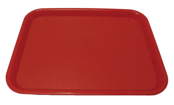 """Johnson Rose - 86122 - Plastic Food Service Tray Red 12"""" X 16"""" - Each"""