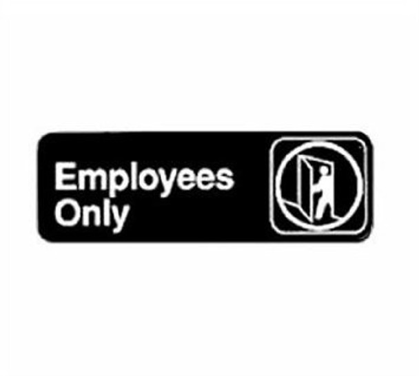 "Winco - SGN-322 - 3""X9"" Employee Must Wash Hands Sign - 1 Unit/Each"