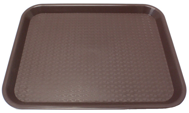 """Johnson Rose - 86123 - Plastic Food Service Tray Brown 12"""" X 16"""" - Each"""
