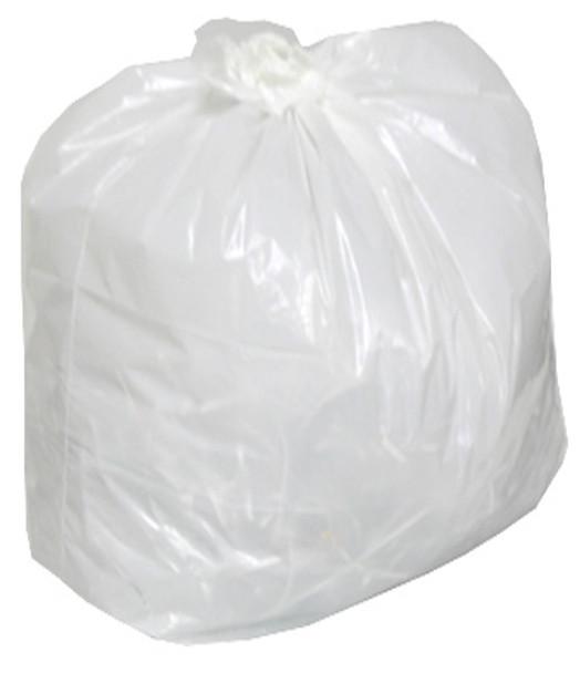 AMBER 24 x 22 Regular White Garbage Bags 500/cs