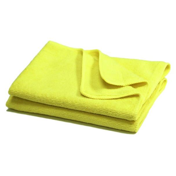 Amber - 16 x 16 Yellow - Micro Fibre Cloth - 10/Pack
