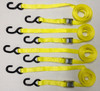 "4pc Heavy Duty Motorcycle, ATV Cam Lock 1""x12' Tie-Down Strap Kit - Yellow"
