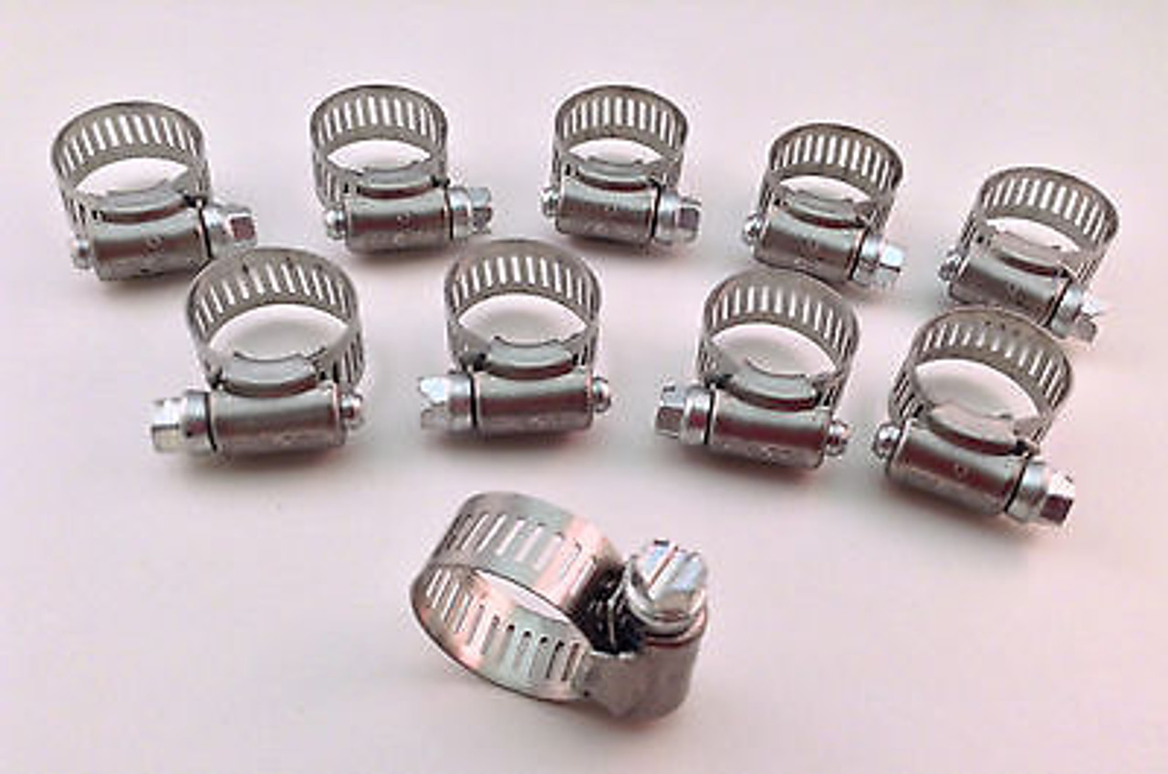 IDEAL Box of 10 Tridon Hose Clamps Size #12 13-32mm 1//2-1-1//4/""
