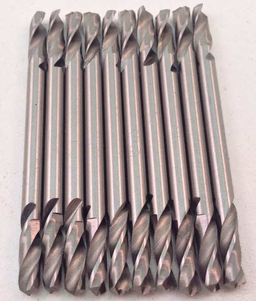 """10pc High Speed M2 Double Ended Body Drill Bits 3/16"""" x 2-5/16"""""""