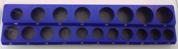"""1/2"""" Drive 18pc Magnetic Metric Socket Holder 7 Deep 11 Shallow 1 Adapter"""