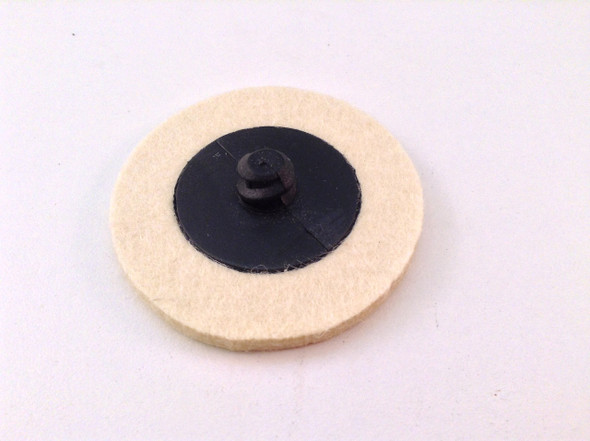 "5pc Roloc Style 2"" Wool QC Disc Polishing Buffing Pads Wheels"