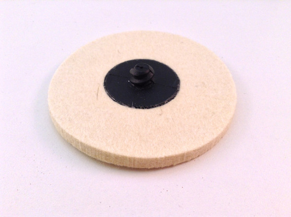"5pc Roloc Style 3"" Wool QC Disc Polishing Buffing Pads Wheels"