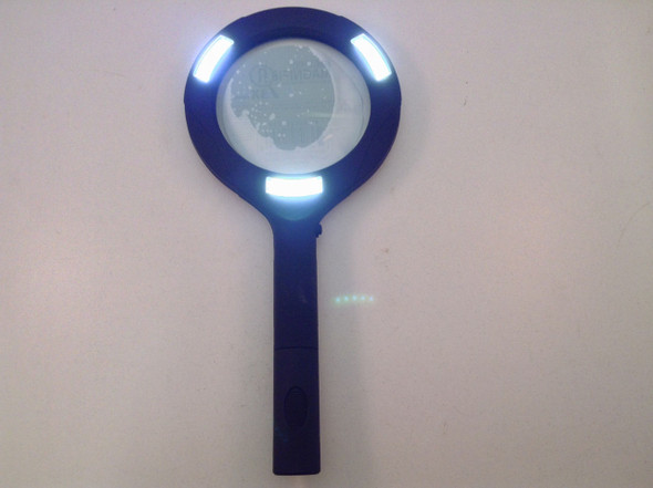 LED Lighted Hand Held 3X Magnifying Glass ML1224