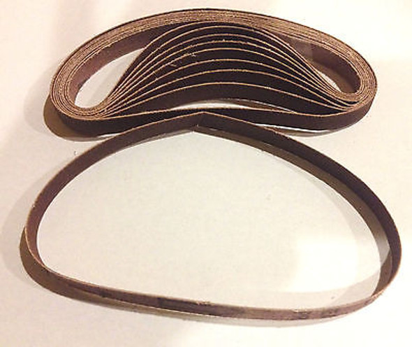 120 Grit 10 Pack of 3/8in. x 13in. Air Sander Sanding Belts