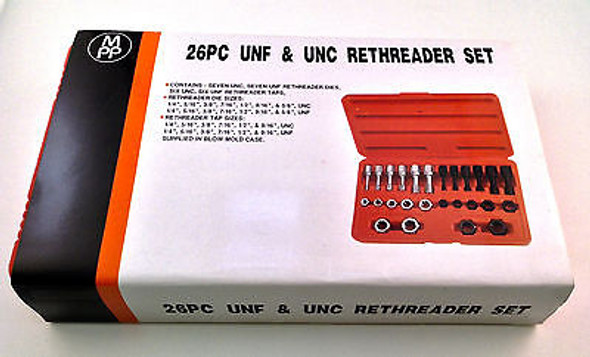 26pc UNF & UNC Standard Size Rethreader Set