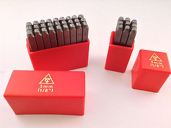 "36pc 1/8"" 3MM Letter & Number Stamp Punch Set Hardened Steel, Metal Wood Leather"