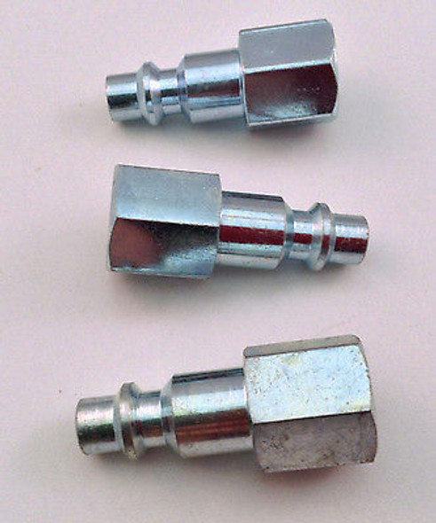 "3pc. Quick Connect 1/4"" NPT Female Plug Style ""M"" - Air Tool Fitting"