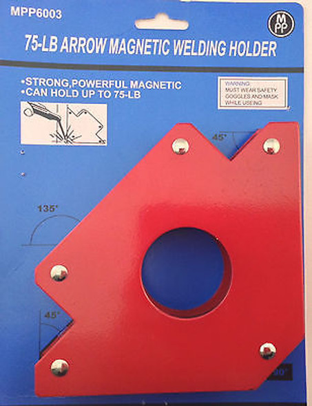 75 lb. Arrow Shape For Multiple Angles Magnetic Welding Holder