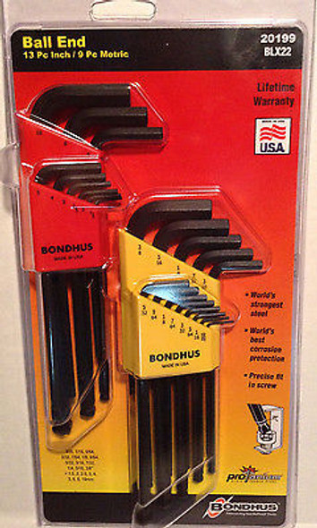 Bondhus Balldriver or Hex driver Double Pack 20199 or 22199