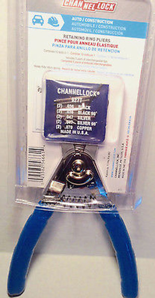 "Channellock 927 8"" Snap Retaining Ring Pliers USA Made"