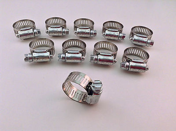 """IDEAL Box of 10 Tridon Hose Clamps Size #10 / 1/2""""/12.70mm 13-27mm 1/2 -1 1/16"""""""""""