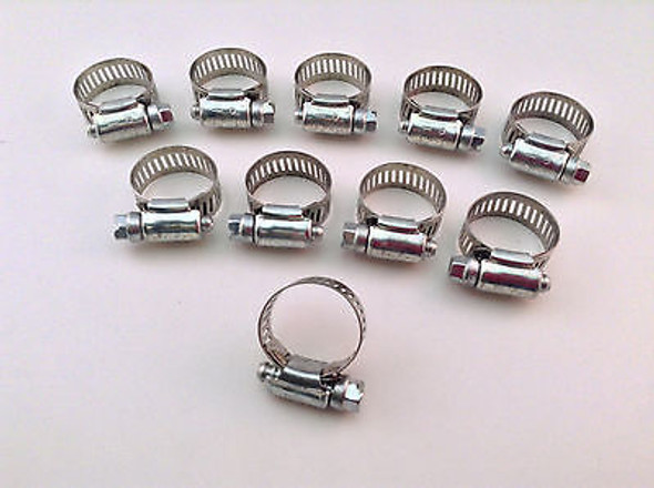 "IDEAL Box of 10 Tridon Hose Clamps Size #10 / 1/2""/12.70mm 13-27mm 1/2 -1 1/16"""""
