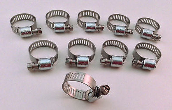 """IDEAL Box of 10 Tridon Hose Clamps Size #06 / 8-22mm 5/16 - 7/8"""""""