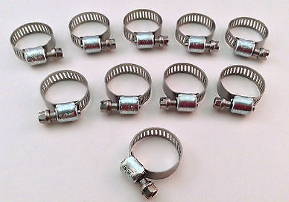 IDEAL Box of 10 Tridon Hose Clamps Size #06 / 8-22mm 5/16 - 7/8""