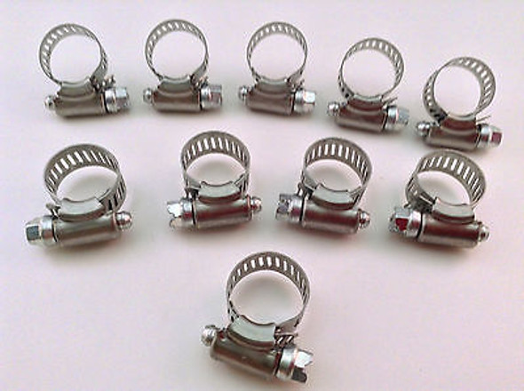 """IDEAL Box of 10 Tridon Hose Clamps Size #06 / 10-22mm 3/8 - 7/8"""""""