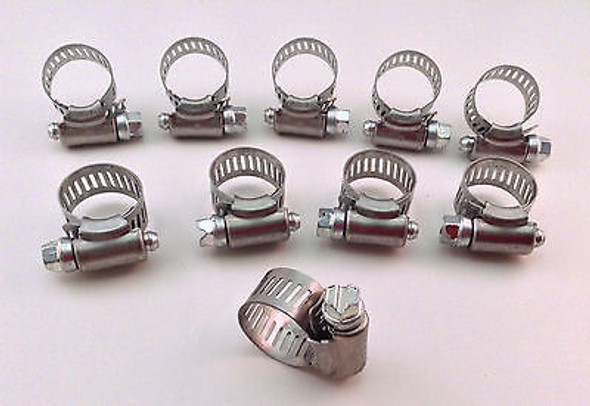 IDEAL Box of 10 Tridon Hose Clamps Size #06 / 10-22mm 3/8 - 7/8""