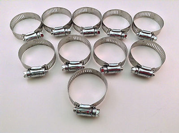 IDEAL Box of 10 Tridon Hose Clamps Size #28 / 32 - 57mm 1-1/4 - 2-1/4""