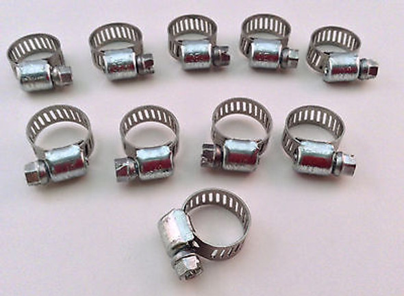 """IDEAL Box of 10 Tridon Hose Clamps Size #04 / 8-16mm 5/16 - 5/8"""""""