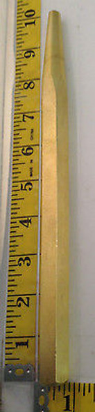 "Solid Brass Tapered End Punch 10"" Hand Punch"