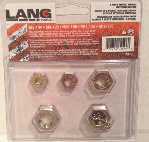 Lang 2594 Thread Restorer DIe Set