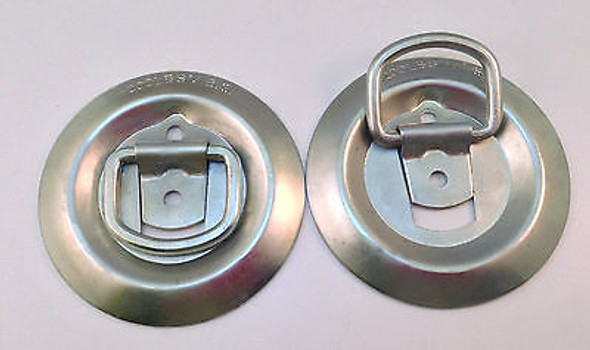 Flush Mount Cargo D Rings 1,200 lbs MBS - Choice of Qty of 2, 4, 6 or 8