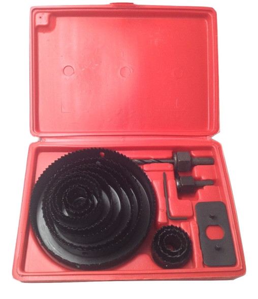 "AK Garage Tools 16pc Carbon Steel Hole Saw Set Metal Circle Cutter Round Drill Bits Kits 3/4""-5"""