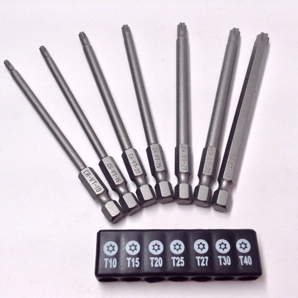 "7pc 4in. 1/4"" Hex Shank Tamper Proof Torx Bit Set (9960)"