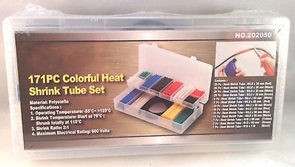 171 pc Colorful Heat Shrink Tube Set
