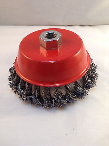 """Knotted Wire Cup Brush 5"""" Twisted Wire"""