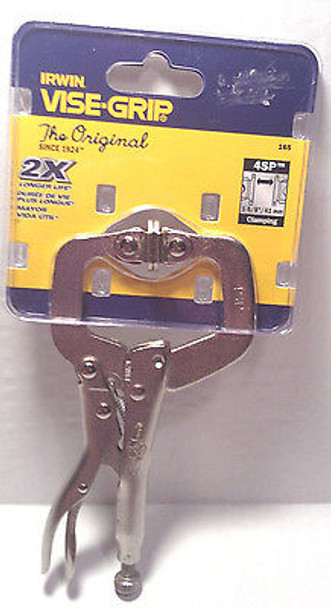 """Vise-Grip 4"""" Locking C-Clamp with Swivel Tips 4SP"""